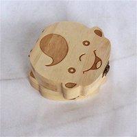 خشبي الطفل الأسنان مربع الجنين دليل الشعر صناديق جمع أطفال الأطفال القبول الأسنان الخشب حالة المنظم 4 4PS H1