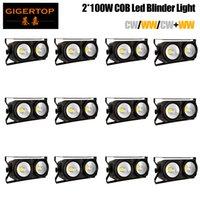 TIPTOP 12 Einheiten LED COB 2EYES 2x100W Blinder Beleuchtung DMX Bühnenbeleuchtung Effekt LED Publikum Licht für Bühne