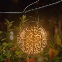 Lámpara de decoración de jardín de inducción automática de la mejor control Lámpara de hierro retro de la lámpara de hierro retro del jardín del jardín