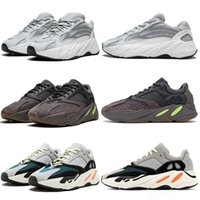 Adidas Yeezy 700 V2 Running shoes Kanye West statique solide gris Aimant Teal carbone bleu runing Chaussures Homme Chaussures Designer Sneakers Static