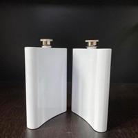 Brasão de sublimação em branco frasco frasco de quadril aço inoxidável garrafa de água dupla parede diy amante tumblers ao ar livre drinkware 8oz shipping yys2760