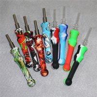 4,7 pollici in silicone nettare collettori narghilè con 14mm tiquartz tips keck clip in silicone contenitore recuperatore di raccolta del collettore NECTOR per fumare