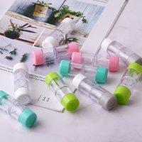 Neue Kontaktlinsengehäuse Myopie Gläser und kosmetische Kontaktlinse Companion Box Kunststoffpflegemittel Großhandel 71 m2