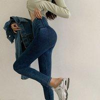 Pantaloni autunnali da donna con vita alta fianchi e leggings