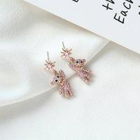 Pendientes de Zircon S925 de alta calidad S925 de alta calidad S925 S925 Pendientes de la joyería de la moda de las mujeres Pendientes simples de gama alta linda Lindo oso Pendientes Regalos