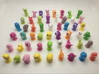 50pcs lot stikeez good quality Cartoon Animals toys soft pvc Action Figures with Sucker Mini doll Suction Cup toys models 201202