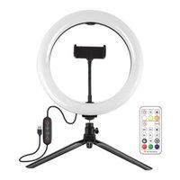 Flash Heads -HaWeel Ring Light Bracket 10 inch 26cm RGB LED-pool met afstandsbediening Telefoonhouder
