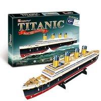 3D Puzzles Crianças Puzzles Adultos Para Adultos Aprendizagem Educação Cérebro Teaser Monte Toy Titanic Navio Modelo Jogos Jigsaw Y200413