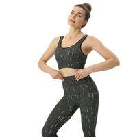 Donne designer vestiti 20202020 Nuova infrarossi fluorescente barra verticale senza saldatura Yoga abbigliamento sportivo Bra Vita Pantaloni Yoga Suit