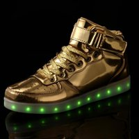 Strongshen 25-45 Taille / USB Charge Charge Led Enfants Chaussures avec Light Up Kids Casual Boysgirls Sneakers lumineux Sneakers
