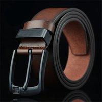 PD001 Cummerbunds Moda Cinturones de hombre Hebilla de aguja Cinturón Casual para Hombres Brown Black Coffee 3 Colores