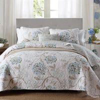 QUALITÄT DES GESCHÄFTSBEENDE BEdeRead Quilt Set 3PC gesteppte Bettwäsche Baumwolldecken Bettbezüge einschließlich Kissenbezug King Size Coveret Blanket1