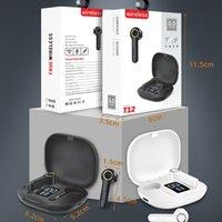 TWS T12 True Wireless BT5.0 Auriculares 300mAh Control táctil Power Bank Auriculares Tipo-C Earbud Earbud Earbud Negro Blanco para iPhones