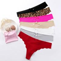 실크 G 스트링 여자 속옷 섹시한 끈 팬티가 낮은 허리 원활한 여자 팬티 팬티 컴포트 친밀한 패션 란제리 S M L XL