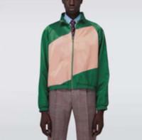 Adam Tasarımcılar Giysi Ceketler Paris Renk Blok Mektup Nakış Beyzbol Rahat Erkek Kış Mont Erkek Ceket Yeşil 05