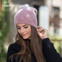 Beanie / Kafatası Kapakları Basit ve Kürklü Kabarık Bere Şapka Bayanlar Kış Soğuk Sıcak Yün ClearLUV Kadınlar Dating Olmalı1