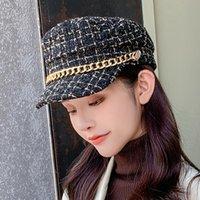 겨울 야구 모자 여성의 프랑스 베이커 모자 모자 쿨 모자 여성의 야구 검은 썬 2020 casquette