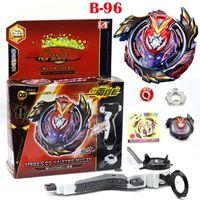 Burst B-96 Strike God Valalkyrie.Mugen Spinning Top con launciador Juguetes Metal Fusion Booster Battle Gyroscopio Juguetes para niños LJ201216