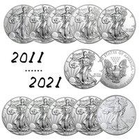 Estátua dos Estados Unidos da Liberdade Prata Comemorativa Moeda 2011 ~ 2021 Moeda Medalha Coin Collection Fontes DHL Frete Grátis