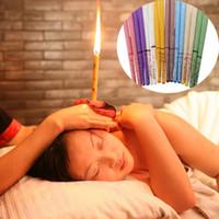 8 colores terapia oreja vela aromaterapia abeja cera terapia auricular oreja vela coning tónico oído cuidado vela palitos