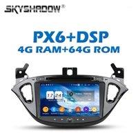 PX6 DSP TDA7851 IPS Android 9.0 4G + 64GB 자동차 DVD 플레이어 GPS Google지도 RDS Radio Wifi Bluetooth 5.0 Corsa 2015 2015 2015