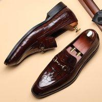 Erkekler için Casual Deri Tembel sahte Ayakkabı On Erkek Elbise Ayakkabı İş Biçimsel Ayakkabı Kama Topuk loafer'lar Düşük En Kayma