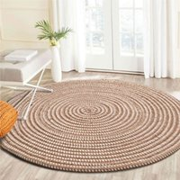 Rugs And Carpets For Home Living Room Round Modern Bedroom Hallway Jute Carpet Kids Room Computer Chair Area Rug Handmade Knit 200925