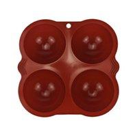 Bola Esfera De Silicone Mold Bolo Pastelaria Cozimento Moldes Chocolate Candy Fondant Bakeware Forma Redonda Forma Decoração Decoração EEB4386
