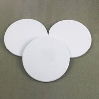 Sublimation Blank Coasters DIY High Quality Circular White Ceramic Cup Mat Hygroscopic Home Table Bar Gadgets Cushion Hot Sale 1 2tt G2