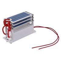 Purificateurs d'air 21G / H Portable Céramique Ozone Générateur 220V Three Integrated Long Life Plaque Ozonizer Purificateur d'eau