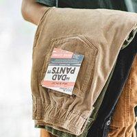 Pantaloni a velluto a coste di Maden Brown uomo solido Harajuku Straight Pant Cargo Vintage Casual Streetwear Pantaloni da safari Bottoms