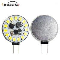 2 PCS 15 LED 2835 SMD G4 LED 전구 라운드 범위 후드 전구 10-30V 방 교체 할로겐 조명 샹들리에 스포트 라이트 화이트 1