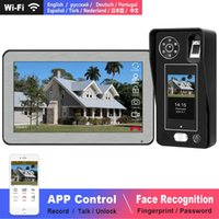 Video-Tür-Telefone Gesichtserkennung Türklingel WiFi Intercom Wireless für Villa Touchscreen Fingerprint Passwort entsperren Nachtsicht