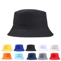 2019 جديد المحمولة الأزياء مثير بلون للطي الصياد الصياد قبعة الشمس في الهواء الطلق الرجال والنساء دلو قبعة متعددة الموسم كاب f jllusx