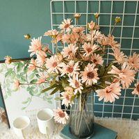 Flores decorativas guirnaldas plantas artificiales crisantemo de decoración del hogar accesorios boda fiesta de scrapbook falso bricolaje pompones