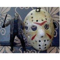 Voorhees no.13 100pcs hockey plus Jason Type Freddy Black Fredi Fredi Fête fête de la fête Halloween Masquerade Masque (taille adulte) 100gram