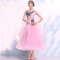 Vestido de baile de desgaste del escenario Vestidos de baile estándar para bailar la competencia Disfraz Foxtrot Tango trajes más tamaño rosa