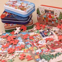 Navidad Puzzle de madera niños juguete Papá Noel Jigsaw Navidad Niños Evictacional Educativo DIY Jigsaw Niños Navidad Bebé Regalos DWA2465