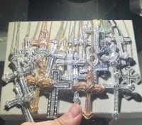 Christianisme de luxe 925 Silver EXQUISITE Bible Jésus Cross Collier Pendentif Femmes Crucifix Charm Pave simulé Platinum Diamond Bijoux