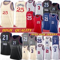 Philadelphia 76ers 25 Ben Simmons City 21 Joel Embiid 3 Allen Iverson Jersey NCAA 17 J.J. Redick Jerseys 20 Markelle Fultz Camisetas de baloncesto Hot 20