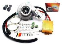 Электрический турбо нагнетатель комплект Упорный мотоцикла Электрический Турбокомпрессор Воздушный фильтр Впускной для всех автомобилей улучшить скорость