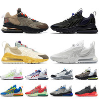 nike air max 270 react eng nike 270 air 270 2021 neue braune travis cactus trails deu frauen herren laufschuhe White Black Nik Trainer Turnschuhe