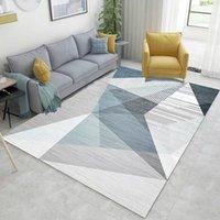 1 unids 3D impreso de alfombra rectangular otoño e invierno nueva sala de estar geométrica mesa de café Manta de la manta Dormitorio Alfombra de la cama 50 * 80 cm