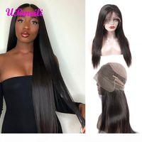360 Full кружева человеческие волосы парики сырые индийские парики девственницы для чернокожих женщин дешевый парик Перрук де Чевеукс гуляни с волосами ребенка