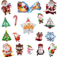 حفلة عيد الميلاد بالونات نفخ احباط الهيليوم بالون سانتا كلوز ثلج كرات الهواء حزب ديكورات اللوازم 34 تصاميم DW6203