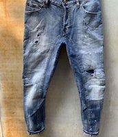 Dsquared2 DSQ Herren Designer Jeans Denim Jean Black Ripping Hosen Gießen Hommes Männer S Italy Mode Marke Biker Motorrad Rock Revival Jeans Hohe Qualität BAL