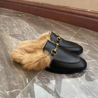 2020 المرأة الجديدة الشرائح الشتاء فروع فرض 100٪ ريال أرنب الفراء الدافئة مريحة غامض فتاة الوجه يتخبطغوتشي حجم الأحذية 35-41.