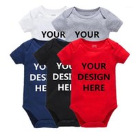 Kavkas benutzerdefinierte text fotos baby bodysuits kleidung personalisierte baby jumpsuit overall süße infant unisex kind kleidung1