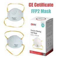 FFP2 masque faciale anti-poussière anti-poussière Respirant 5 couches Protection Masques de protection Mode réutilisable Masques de bouche civile EN149: 2001