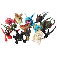 13 sztuk / partia Jak wytresować Smok 2 PCV Figura zabawki Hicup bezzębnowe czaszka Gronckle Deadly Nadder Night Dragon Figures Fury T200106